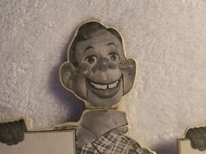 2ea., HOWDY DOODY CARDBOARD STANDUPs, 1952, RARE, WITH HOWDY DOODY THEME SONG