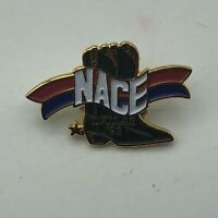 1993 NACE Convention Lapel Pin Dallas Cowboy Boots Natl Assoc Catering Assoc R3