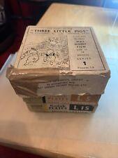 More details for vintage magic lantern 24 slide set - ensign disney three little pigs