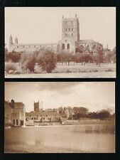 Gloucestershire Glos TEWKESBURY 2 views c1920/30s RP PPCs