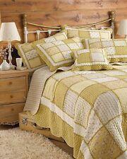 Tagesdecken mit Patchwork-Muster aus 100% Baumwolle