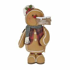 Weighted Gingerbread Man Christmas Decoration 60cm Tall Festive Home Accessory