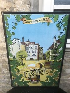 Original Large French  Beer Metal Sign
