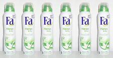 (1L=15,54€) 6x Fa Fresh & dry Grüner Tee Deo Spray , 6x150ml