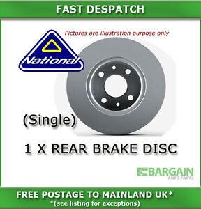 1 X REAR BRAKE DISC FOR VOLVO 240 2.0 08/1976 - 07/1979 3725