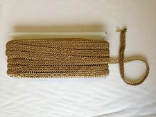 "1/2"" BRAID TRIMMING UPHOLSTERY SOFT FURNISHINGS GARMENTS CRAFT INCA GOLD"