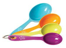 Fox Run MULTI COLOR MEASURING CUP SET - LONG HANDLES - SCOOP STYLE CUPS