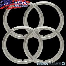"4X 15"" CHROME TRIM RINGS 1.5"" 1 1/2"" DEEP BEAUTY GLAMOUR STEEL WHEELS RIMS ABS"
