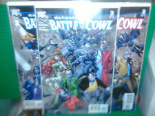 DC Batman Battle for the Cowl comic book set 1-3 limited edition first printing