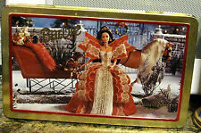 Winter Holiday Barbie Candy Cookie TIN 1997 Russell Stover Metal Collectible