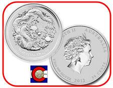 2012 Lunar Dragon 1/2 oz Silver, Series II, Australia, shrink wrapped roll of 20