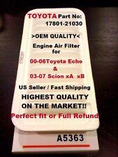 AF5363 00-06 Toyota Echo / 03-07 Scion xA xB OEM Quality Engine Air Filter A+++