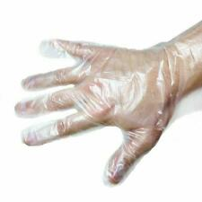 lot of 1000 Polyethylene Clear Disposable Gloves Industrial Grade 10 x 100 packs