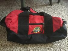 Pre Owned Cabela's Outdoor Gear Duffelbag.  Red & Black.  18 L x 10 H x 9W