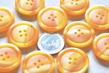 """lot de 5 gros boutons ronds """" orange marbré """"  26mm mercerie couture button"""