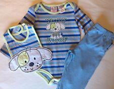 Infant Baby Boy baby togs kidswear co 3/6 Months 100% Cotton blue stripe WOOF 🐶