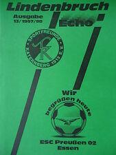 Programm 1997/98 Sportfreunde Katernberg - ESC Preußen 02 Essen
