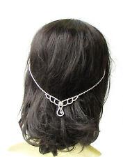 Silver Bridal Headpiece Hair Vine Headband Diamante Rhinestone Art Deco Vtg 1844