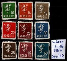 NORVÈGE : Série du LION, Neufs * = Cote 111 € / Lot ETRANGER