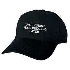 Más tarde Vendaje trabajo primero Cabello Negro Gorra De Béisbol Sombrero gracioso