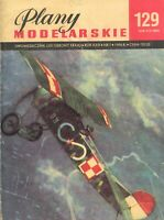 Airplane modeling plans - FOKKER D-VII and FOKER E-V(D-VIII)