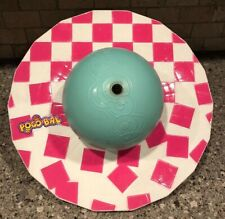 Vintage 1987 Hasbro Pogo Bal Pink White Checkered Blue Ball Hopping Toy 80s