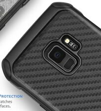 For Samsung Galaxy S9 - Hybrid Shockproof Armor Case Cover Black Carbon Fiber