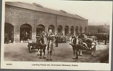 Guinness Brewery Dublin Horses & Wagons Great Vintage Photo Postcard Unused