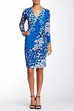 NWT Anne Klein Dot-Print Faux-Wrap Dress, Size 2