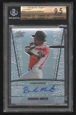 2011 LEAF METAL DRAFT PRISMATIC #BM1 BRANDON MARTIN – AUTO – 10/99 – BGS 9.5