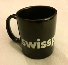"Swissport Watches Logo Black Coffee Mug 3.5"" EUC"