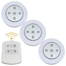 3x Remote Control Wall Ceiling Wireless LED Lights Kitchen Bathroom Cabinet