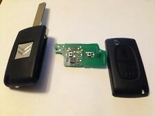 Citroen 2 button remote key fob uncut blade