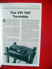 "VPI TNT turntable review ""the Absolute Sound"" magazine 11/89"