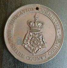 Hampshire Education Committee Bronze School Attendance Medallion
