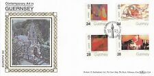 (93157) GB Guernsey Benham FDC GL24 Contemporary Art 7 May 1993