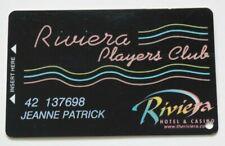 RIVIERA Las Vegas Slot Card / Players Club CASINO Hotel - Black with Neon Style