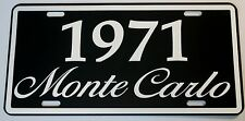 1971 71 MONTE CARLO METAL LICENSE PLATE 350 400 454 SS LOWRIDER CHEVY