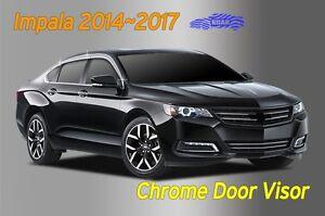 Chrome Door Visor Rain Vent Guard Window Molding D641 for Chevy Impala 2014~2017