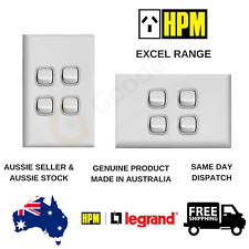HPM Excel Series 10AX 4 Gang Light Switch (XLP770/4WEWE)