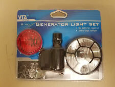 VIA 6 Volt Generator Light Set...Front and Rear...Extra Large Taillight..Bicycle