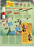 1959 PAPER AD Jason Telescopes Scope Constellation The Satellite Moonwatcher