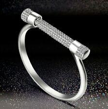 Screw Love Shakle Bracelet Horseshoe Silver Color