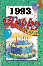 Birthday Card with Envelope 1993 Year of Birth