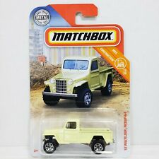 2019 Matchbox MBX #31 Willys Jeep Pickup 4x4 Construction Green