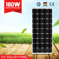 12V 160W Solar Panel Kit Mono Generator Caravan Camping Battery Charging 160watt