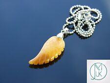 ROSSO con Gemstone Angel Wing CIONDOLO COLLANA naturale chakra Guarigione Pietra