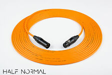 15' Mogami 2534 Quad Balanced Cable Neutrik Gold XLR Male to XLR Female Orange