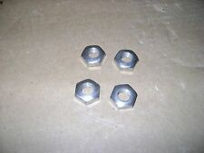 Four NOS Indian Harley Henderson NUTS Nickel Plated 7/16 x 24 Nice - Powerplus?