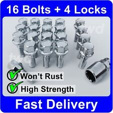 20 x ALLOY WHEEL BOLTS + LOCKS FOR BMW 3-SERIES E30 E36 E46 E90 LUG NUTS [H4b]